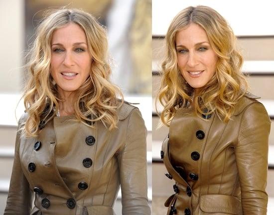 Sarah Jessica Parker rocks an ultrachic shrunken short trench coat