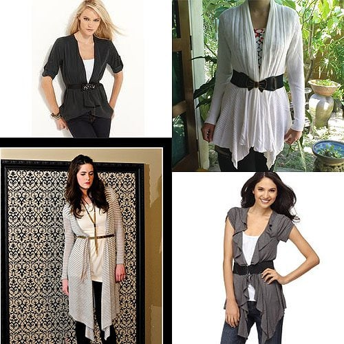 Belted drapey cardigans