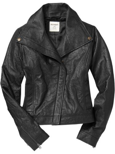 Old Navy Real Leather Motorcycle Jacket