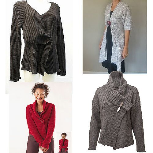 Pinned drapey cardigans