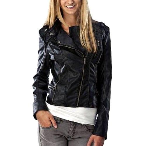 Xhilaration Moto Jacket with Zipper Trim - Black