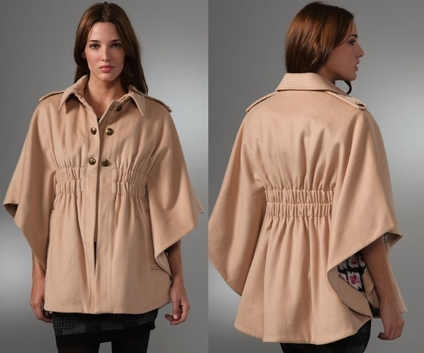Juicy Couture Wool Felt Long Cape