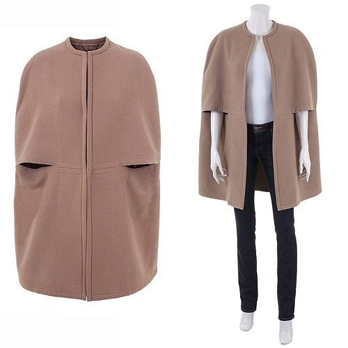 Stella McCartney Wool Blend Camel Cape