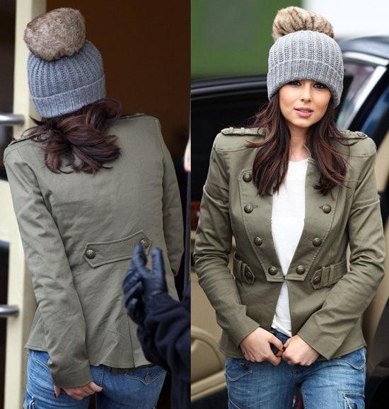 Cheryl Cole arriving at The X Factorstudios in London