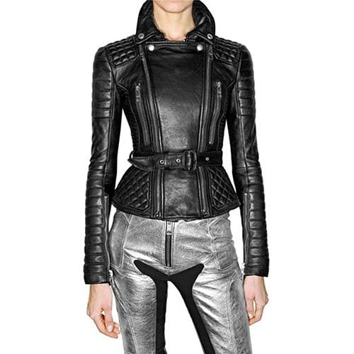 Burberry Prorsum Spring 2011 quilted and fitted leather jacket
