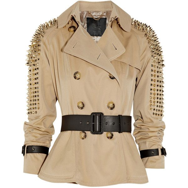 Burberry Studded cotton-twill jacket