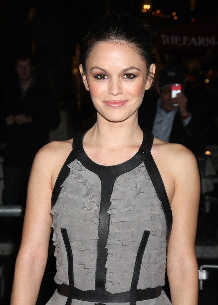 Rachel Bilson posing for the cameras at the premiere of 'Waiting for Forever' held at the Pacific Theaters at The Grove in Los Angeles, California on February 1, 2011