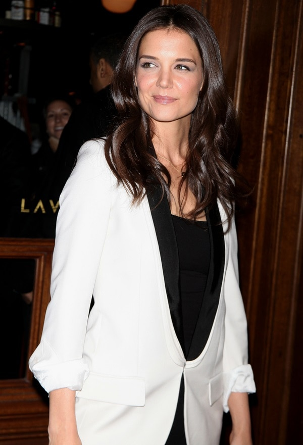Katie Holmes at the New York premiere of her movie 'The Decision' held at Lavo in New York City