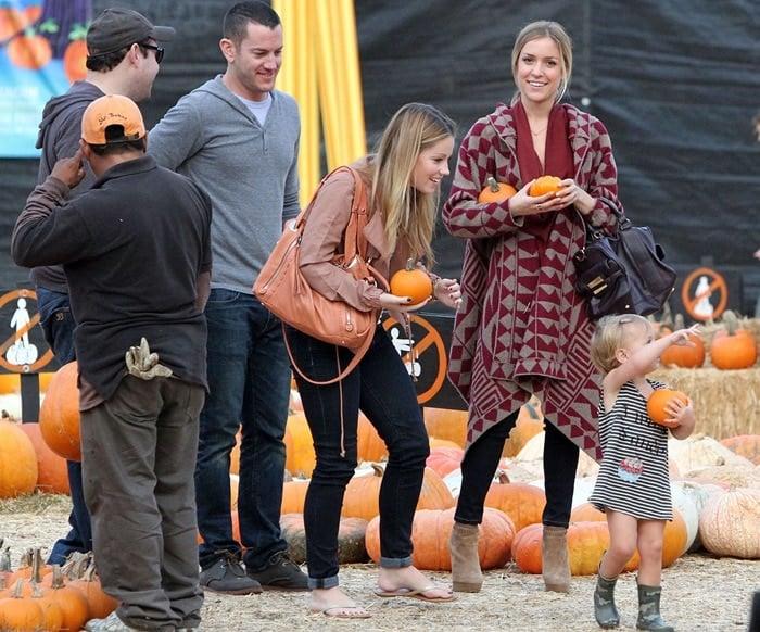 Kristin Cavallari pumpkin picking at Mr. Bones Pumpkin Patch in West Hollywood, California on October 19, 2011