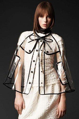 Burberry Prorsum Fall 2011 Clear Raincoat