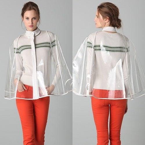 Raoul Clear Vinyl Capelet Raincoat