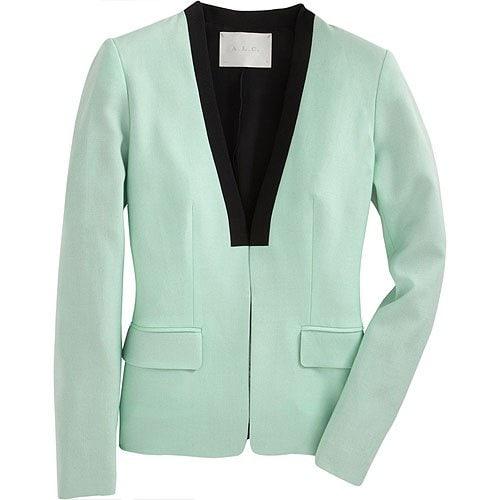 A.L.C. 'Zoe' Blazer in Mint Green