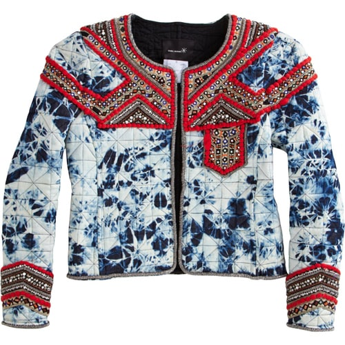 Isabel Marant embellished tie dye jacket