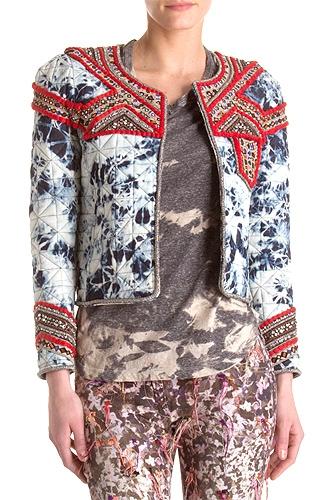 Isabel Marant Embellished Tie-Dye Jacket