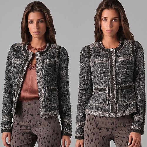 Rebecca Taylor Sequin Boucle Jacket