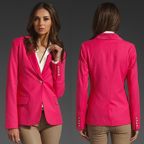 Elizabeth and James New Sammi Blazer in Slipper Pink