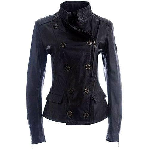 Belstaff double-breasted zip leather blazer jacket