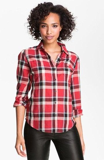 Sandra Ingrish Long Sleeve Plaid Shirt