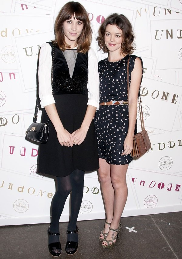 British television personality/model Alexa Chung and Nora Zehetner at the Kim Crawford Wines and Miles Aldridge art event