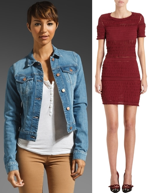 J Brand Denim & Leather Jacket and Isabel Marant Dag Dress