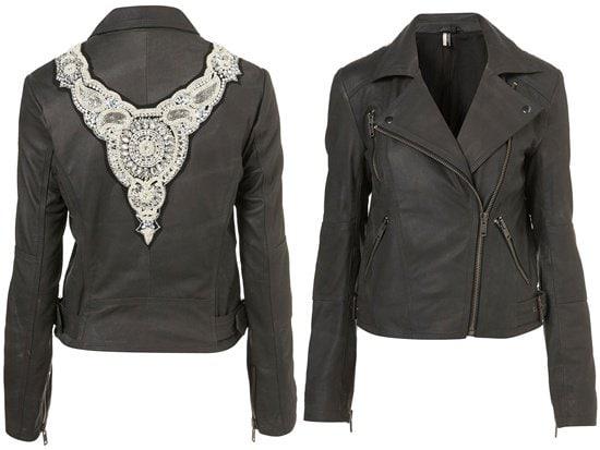 Pearl Baroque Biker Jacket