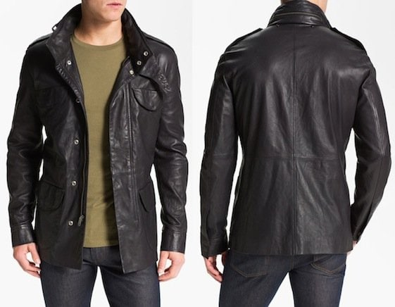 Marc by Marc Jacobs Leather Field Jacket in Washed Ink