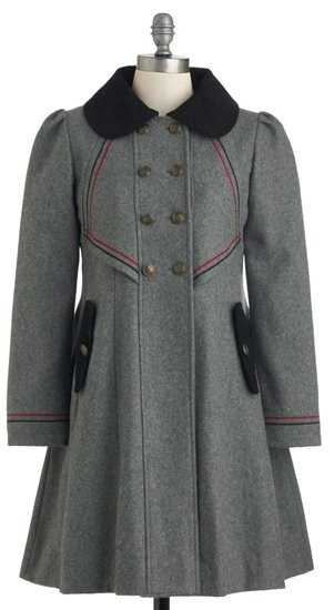 Stylish to the Chorus Coat in Gray by Dear Creatures