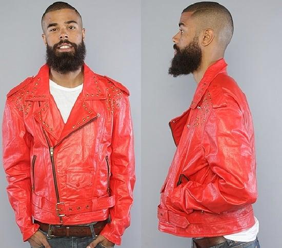 Iridium Red Biker Jacket