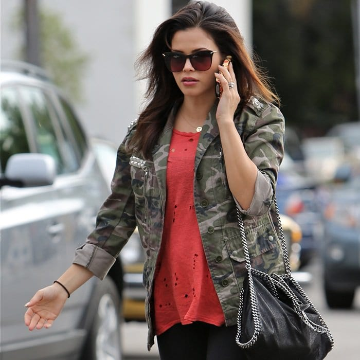 Jenna Dewan Tatum seen heading to Whole Foods to get some lunch and then to a nail salon to get her nails done in Los Angeles, California, on January 24, 2013