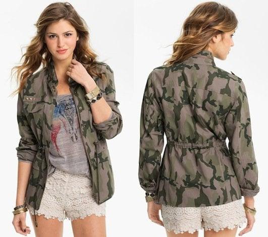 Fire Studded Camo Army Jacket