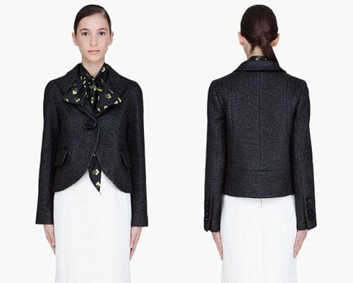 Marc Jacobs Black Sparkle Magda Blazer