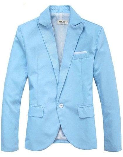 Hot Mens Casual Slim fit Suit Onebutton Blazer Coat Jacket