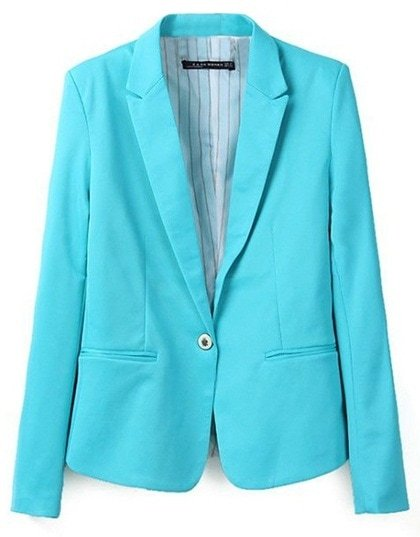Vobaga Candy Women Casual Blazer Suite One button lapel Outerwear Coat Jacket