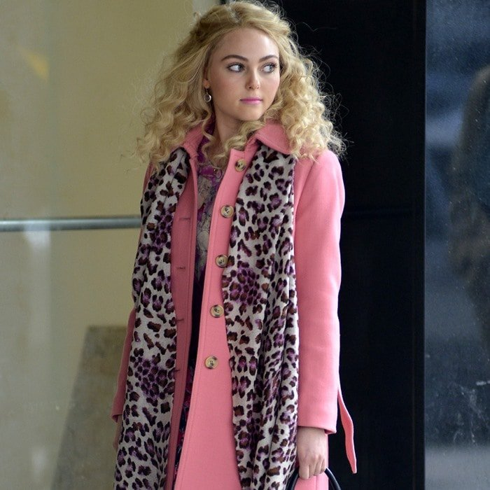 AnnaSophia Robb on the set of The Carrie Diaries in Manhattan, New York City on February 6, 2013