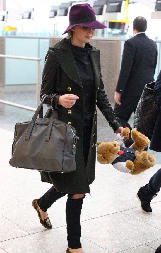 Celebrities at Heathrow Airport Featuring: Jennifer Lawrence Where: London, United Kingdom When: 11 Feb 2013 Credit: Almasi/WENN.com