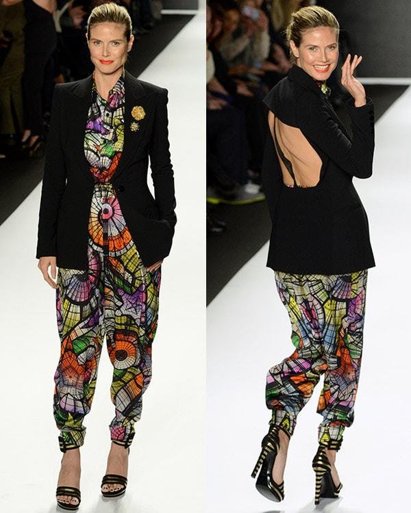 Heidi Klum at the Mercedes Benz Fashion Week New York - Project Runway - Season 11 Finale