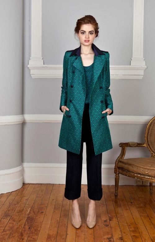 Printed Green Misha Nonoo Coat