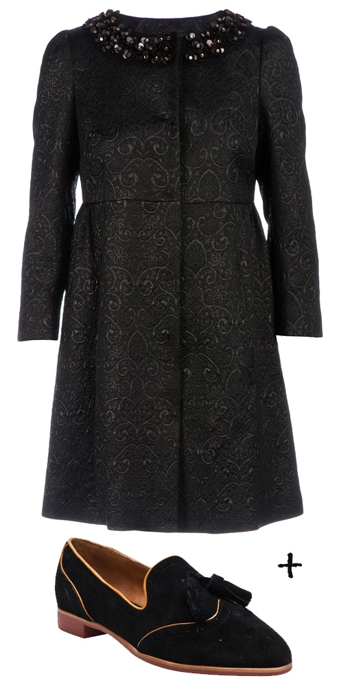 RED Valentino Embellished Coat1
