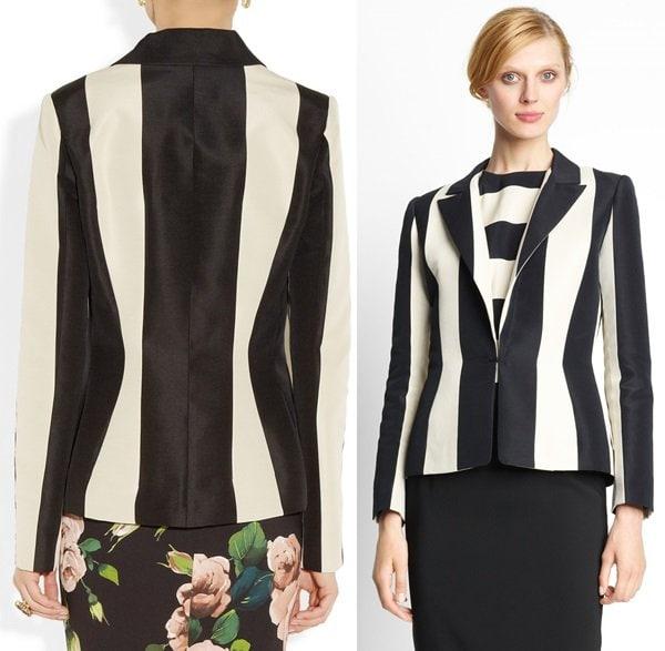 Striped Cotton Blend Blazer by Lanvin