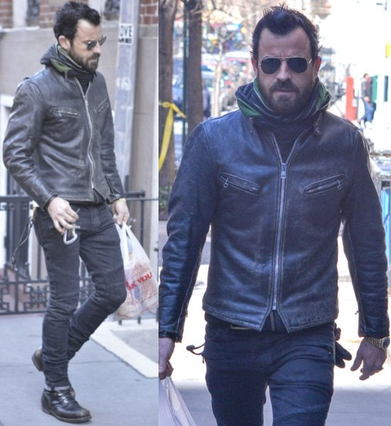 Actor-Justin- Theroux-takes-a-walk-in-his-West-Village- neighborhood- Featuring-Justin- Theroux-New- York-New-York- United-States-March-9-2013- TNYFWENN