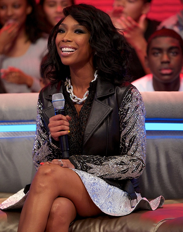 Brandy Norwood visits BET's 106 & Park at BET Studios on March 26, 2013 in New York City