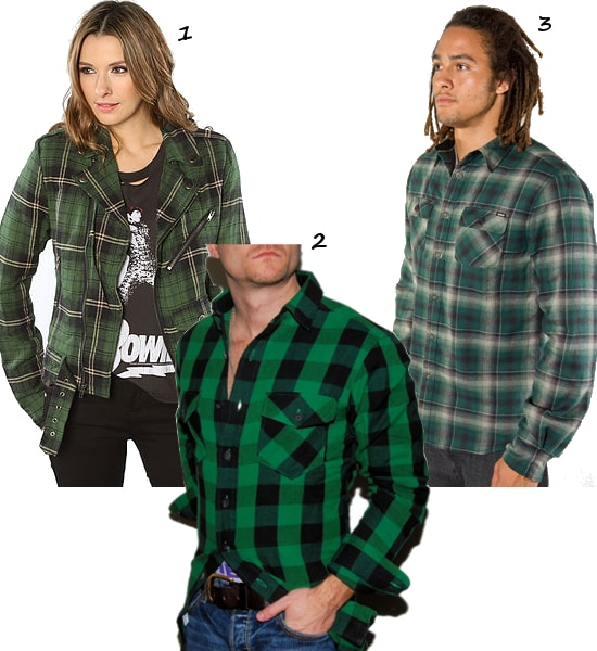 Green-Checkered-Flannel
