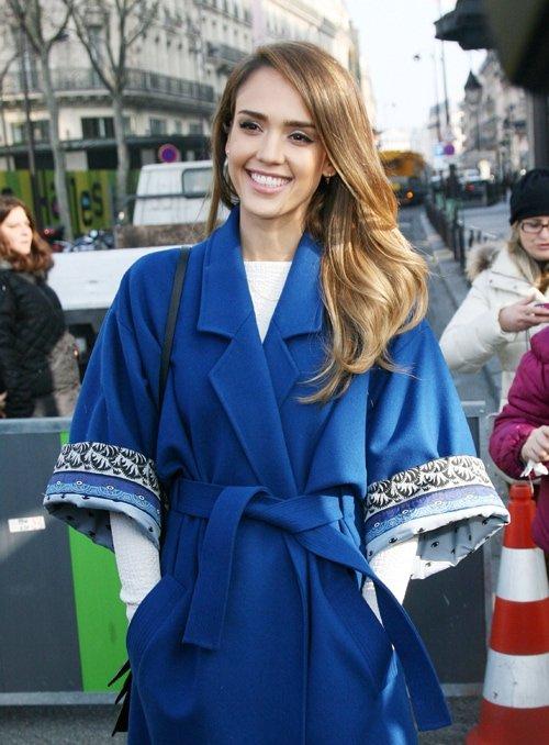 Jessica Alba attends the Kenzo Fall/Winter 2013 Ready-to-Wear show as part of Paris Fashion Week