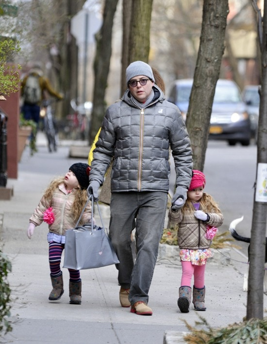 Matthew Broderick takes his twin daughters to school Featuring: Matthew Broderick,Marion,Tabitha Where: Manhattan, NY, United States When: 15 Mar 2013 Credit: TNYF/WENN.com