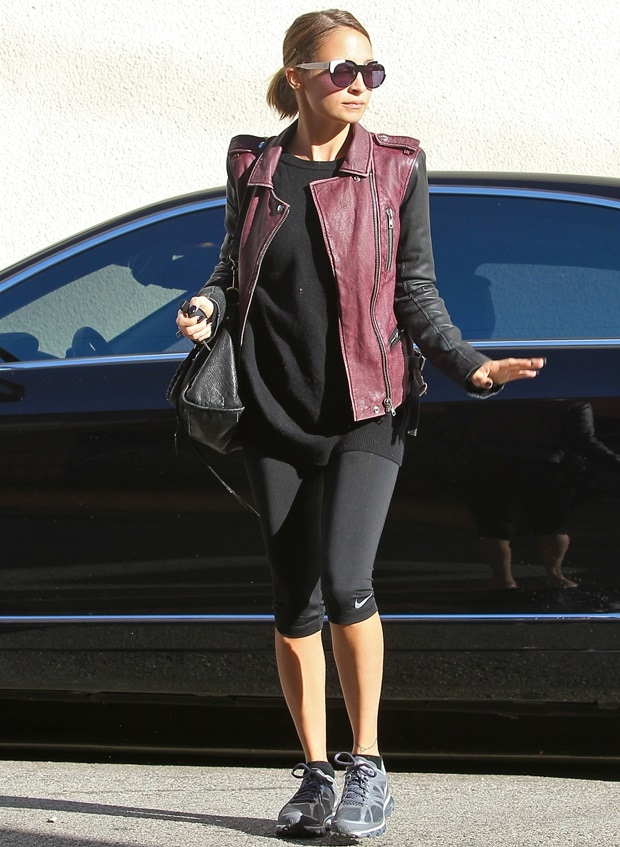 Nicole's outfit is proof that a good, versatile leather jacket is worth its price tag