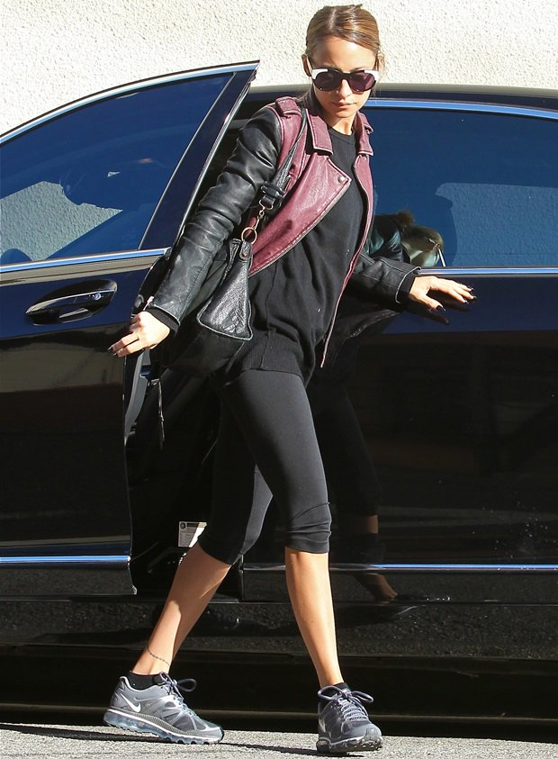 Nicole Richie arriving at the gym in Studio City, Los Angeles on February 28, 2013