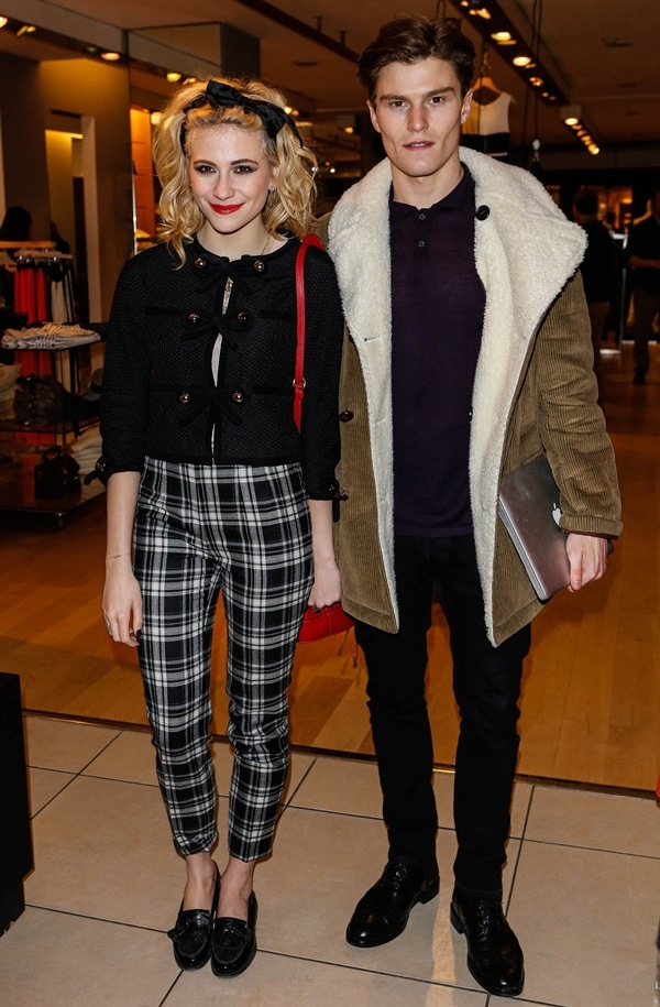 "Oliver Cheshire and Pixie Lott at Panasonic Technics ""Shop to the Beat"" party hosted by George Lamb"