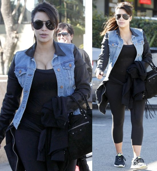 Pregnant-Kim-Kardashian-showing-off-her cleavage-as-she-leaves-Jinky's-Cafe-in-Sherman Oaks-with-her mother-after-the- two-had-breakfast-Los- Angeles- California-March-1