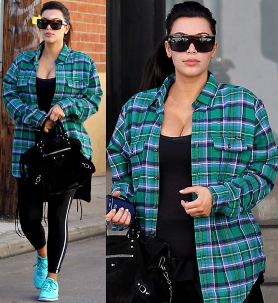 Pregnant-Kim-Kardashian- showing-off-her- cleavage-as-she- leaves-a-gym-in- Studio-City-Kim- Kardashian-Los- Angeles-California-28-Feb- 2013