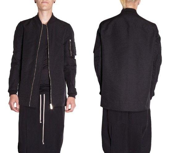 Rick Owens Zip Front Bomber Jacket